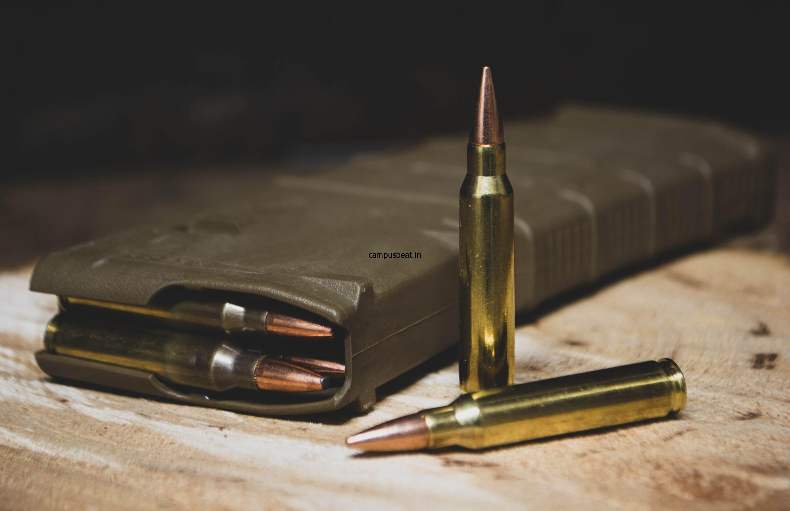 brass colored bullets in magazine