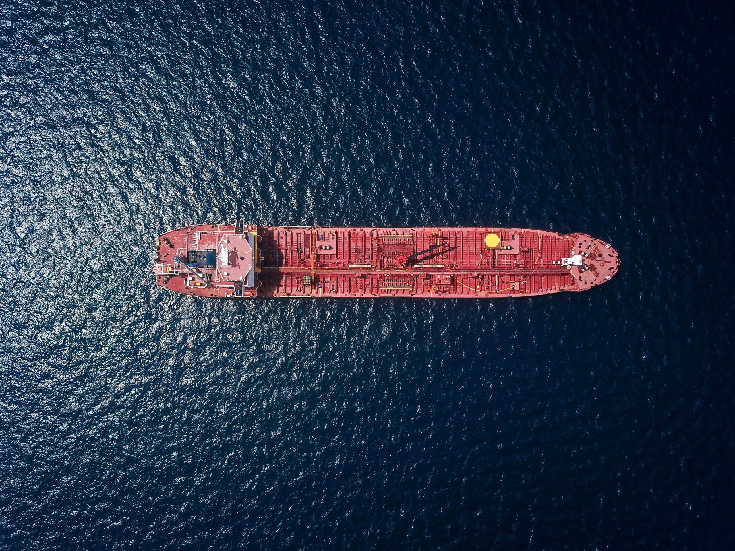 aerial photography of tanker ship
